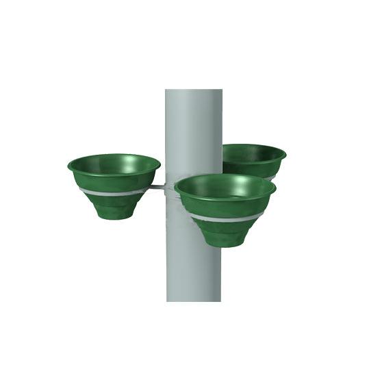 Конструкция для цветочных вазонов на столб для 3 Колокольчиков