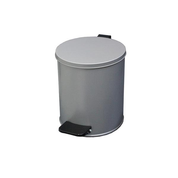 Урна с педалью круглая 7 литров серая