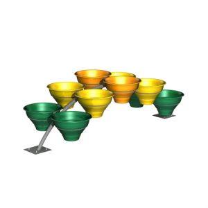 """Цветочные вазоны на конструкции """"Мостик 10"""""""