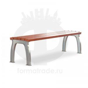 Скамейка без спинки алюминиевая «Прокси»