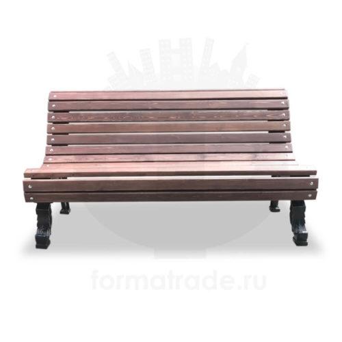 Скамейка с чугунными опорами «Романс»
