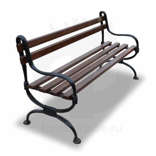 Скамейка садовая чугунная «Мелодия»
