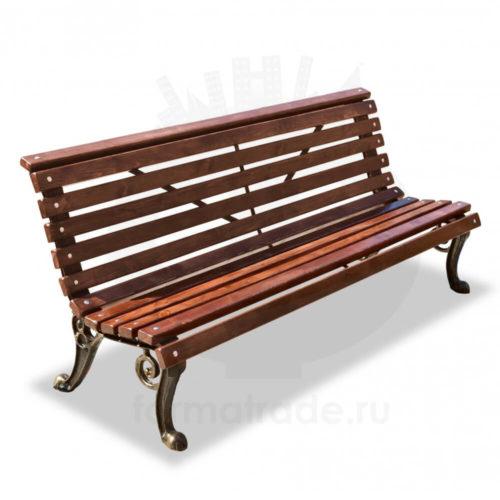 Чугунная скамейка уличная «Нева»