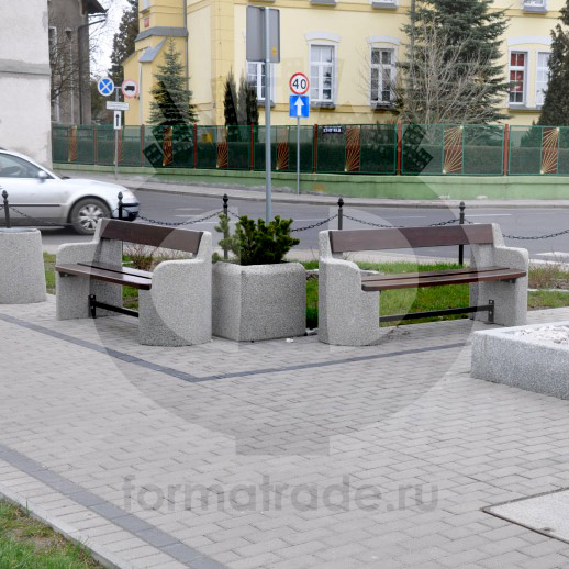 Скамейка из бетона 404
