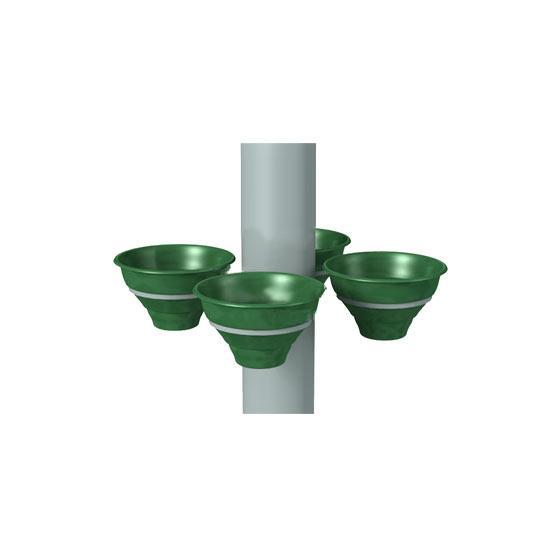 """Конструкция для цветочных вазонов на столб для 4 """"Колокольчиков"""""""