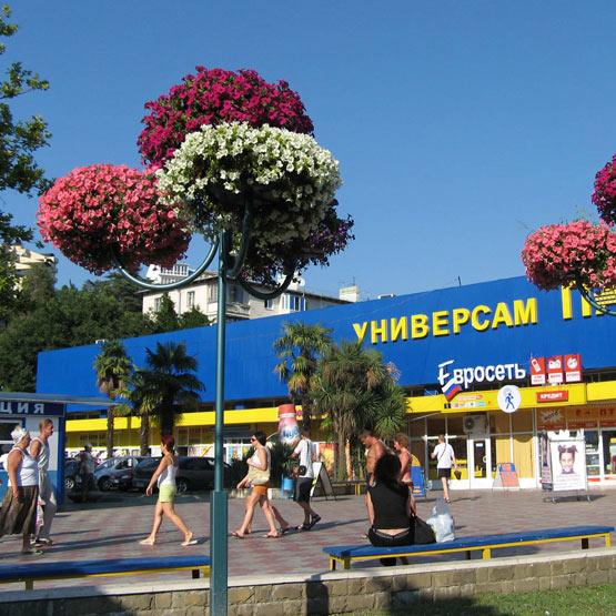 """Конструкция для уличных цветочных вазонов """"Фонарь 2"""""""