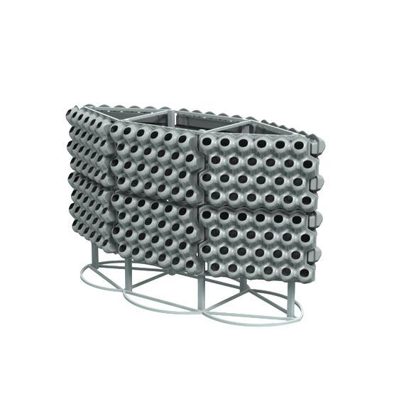 Вазоны для вертикального озеленения Цвеона 24 на конструкции Шестигранник