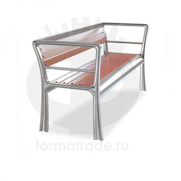 Скамейка алюминиевая «Бридж»
