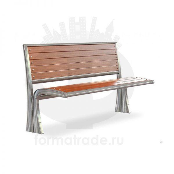 Скамейка алюминиевая «Сидней без подлокотников»