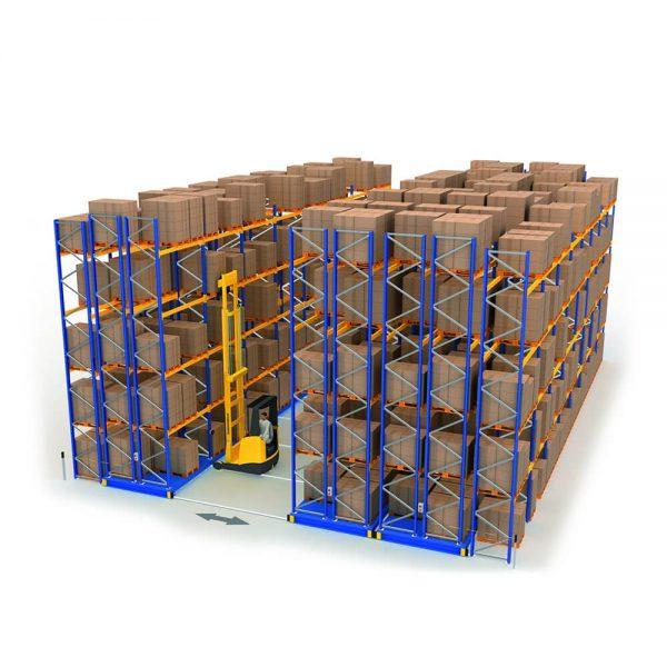 Мобильные передвижные стеллажи для склада