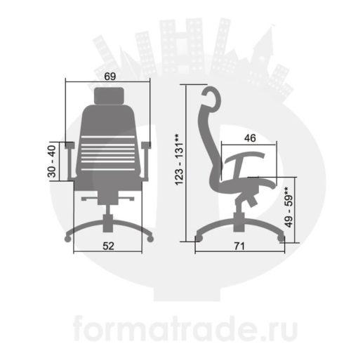 Офисное кресло Samurai K-2 (с подголовником)